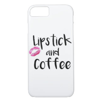 Lipstick and Coffee iPhone 7 Case