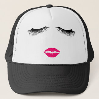 Lipstick and Eyelashes Trucker Hat