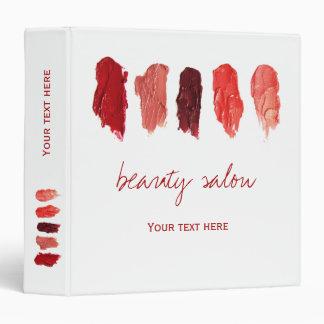 Lipstick colors swatches makeup artist vinyl binder