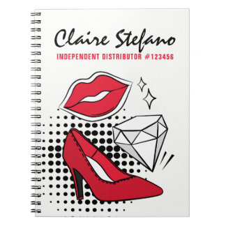 Lipstick Distributor Beauty Kiss Modern Glamour Notebook