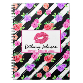 Lipstick Distributor Glam Rose Kiss Personalized Notebook