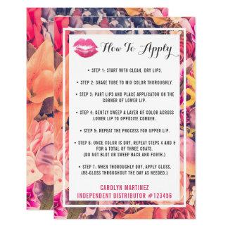 Lipstick Distributor How To Apply Application Kiss Card