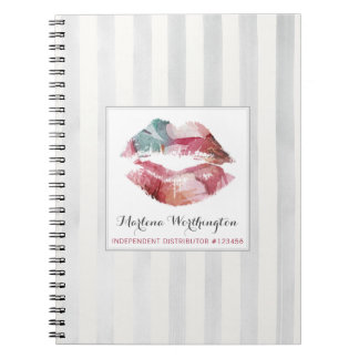 Lipstick Distributor Watercolor Kiss Personalized Notebook