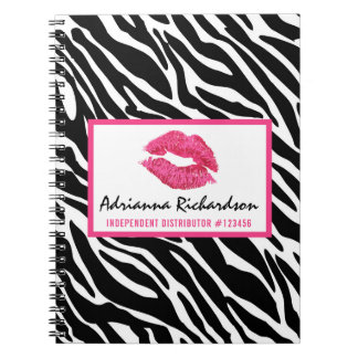 Lipstick Distributor Zebra Kiss Lips Personalized Notebook