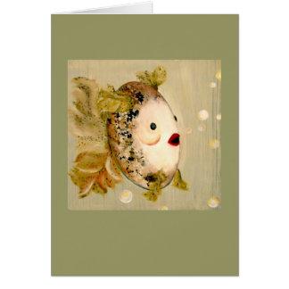 Lipstick fish card