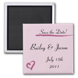 Lipstick Heart Save the Date Magnet