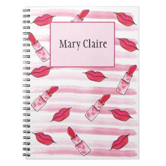 Lipstick Journal Planner Organizer Notebook