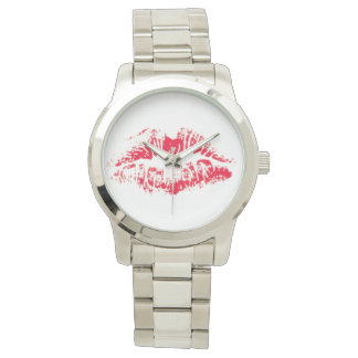Lipstick kiss wristwatch