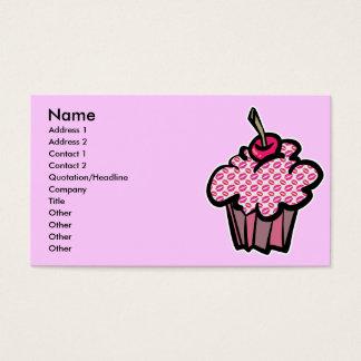lipstick kisses cupcake, Name, Address 1, Addre... Business Card