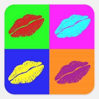 Lipstick kisses stickers
