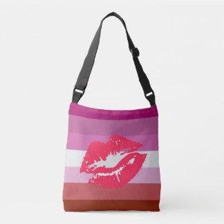 Lipstick Lesbian Pride Flag Crossbody Bag