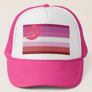 lipstick lesbians pride trucker hat