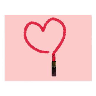 Lipstick Love Postcard