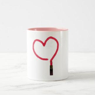 Lipstick Love Two-Tone Coffee Mug