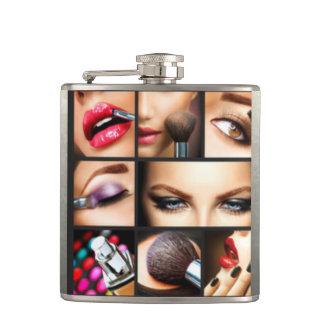 Lipstick Makeup Fashion Design Hip Flask