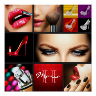 Lipstick Makeup Fashion Design Perfect Poster