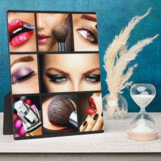Lipstick Makeup Fashion Design Plaque