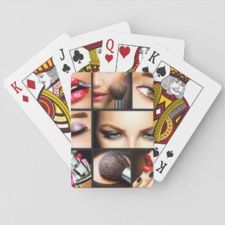 Lipstick Makeup Fashion Design Poker Deck