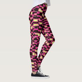 Lipstick Pink Yellow Black Camo Leggings