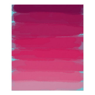 Lipstick: Shades of Pink Abstract Art Poster Print
