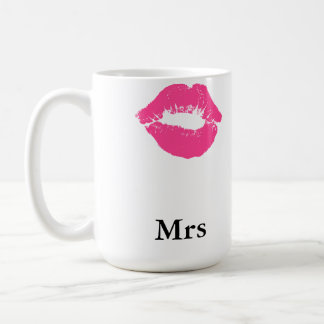 Lipstick Smudge Mrs Coffee Mug