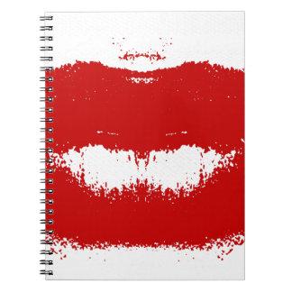 Lipstick Smudge on Tissue Notebooks