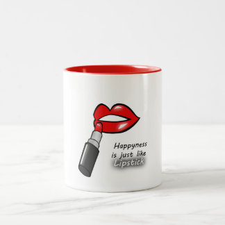 Lipstick Two-Tone Coffee Mug