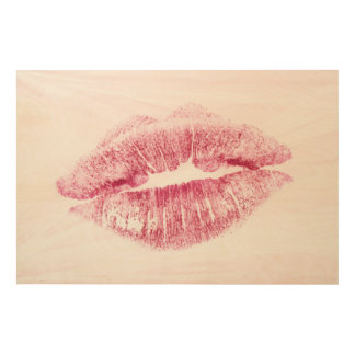 Lipstick Wood Wall Decor