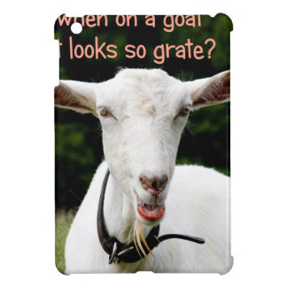 Lipstik on a goat cover for the iPad mini