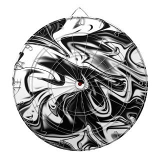 Liquefied Black White Marble, Dartboard