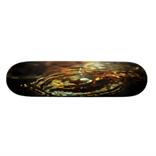 Liquefy gold skateboard decks