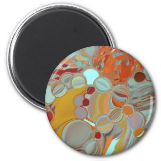Liquid Bubbles Abstract Design 2 Inch Round Magnet