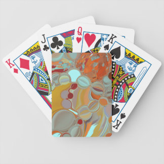 Liquid Bubbles Abstract Design Bicycle Playing Cards