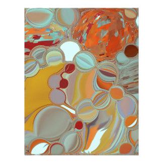 Liquid Bubbles Abstract Design Letterhead
