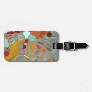 Liquid Bubbles Abstract Design Luggage Tag