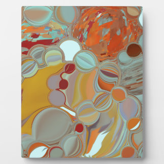 Liquid Bubbles Abstract Design Plaque