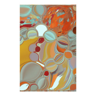 Liquid Bubbles Abstract Design Stationery