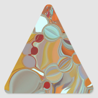 Liquid Bubbles Abstract Design Triangle Sticker
