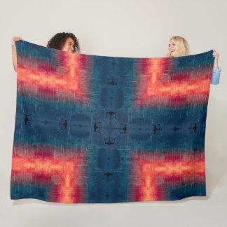 Liquid Color Alien Mandala Fleece Blanket