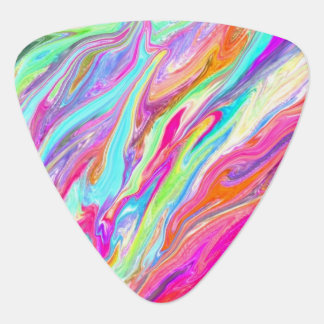 Liquid Color Neon Guitar Pick