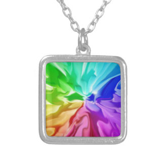 Liquid Colour Silver Plated Necklace