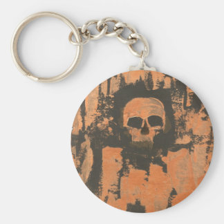 Liquid Copper Skull Keychain