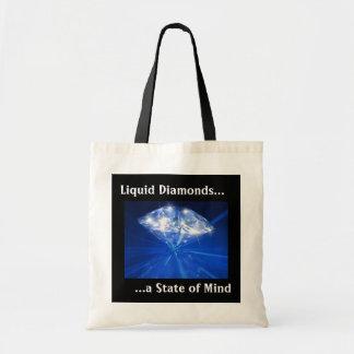 Liquid Diamonds Tote Canvas Bag