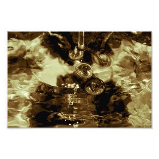 Liquid Gold Abstract Photograph