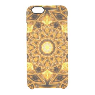 Liquid Gold Mandala Clear iPhone 6/6S Case