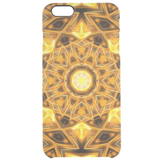 Liquid Gold Mandala Clear iPhone 6 Plus Case