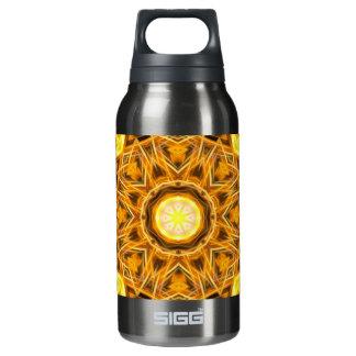 Liquid Gold Mandala Insulated Water Bottle