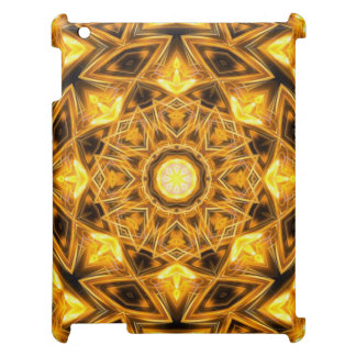 Liquid Gold Mandala iPad Cases