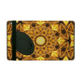 Liquid Gold Mandala iPad Folio Case
