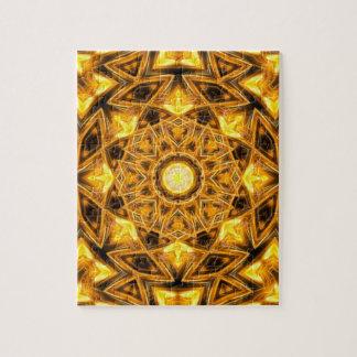 Liquid Gold Mandala Jigsaw Puzzle